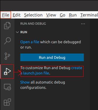 create a launch.json file